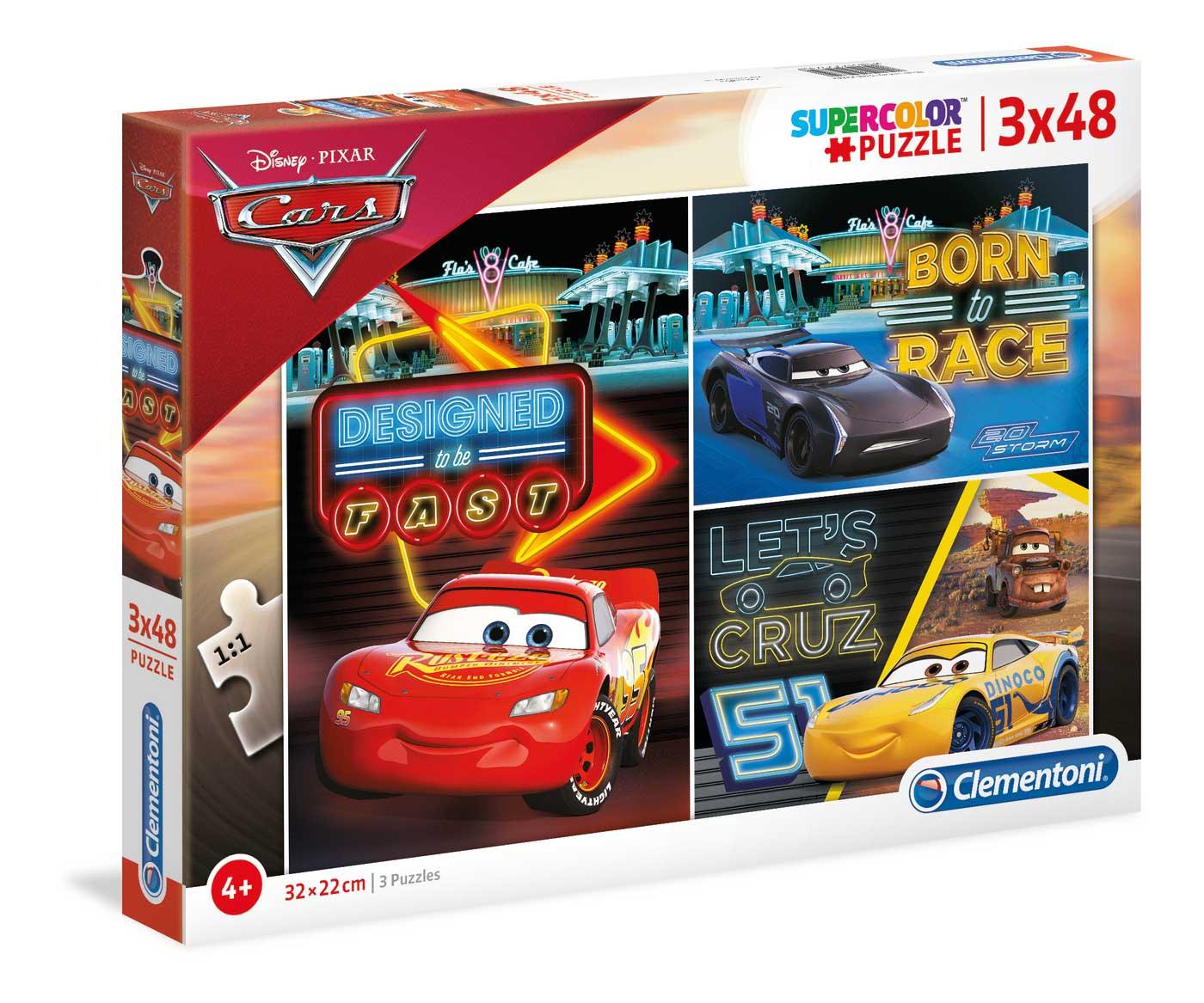 Puzzle Clementoni Cars 3 x 48 Piezas