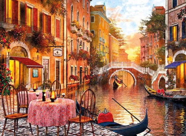 Puzzle Clementoni Cita en Venecia de 1500 Piezas