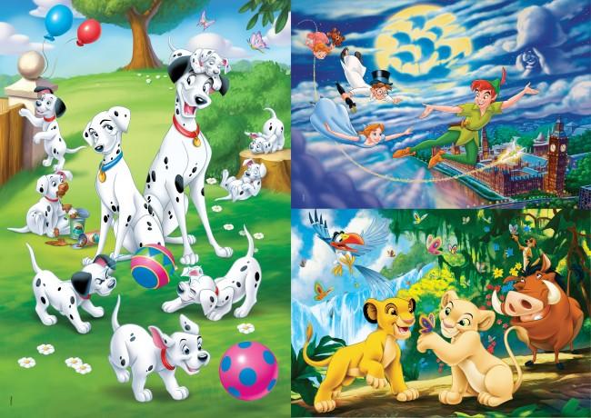 Puzzle Clementoni Clásicos Disney 3 x 48 Piezas