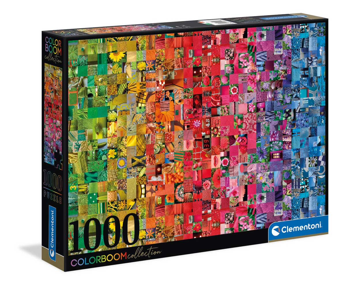 Puzzle Clementoni Collage Colorboom de 1000 Piezas