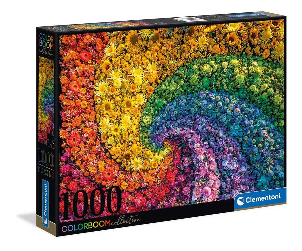Puzzle Clementoni ColorBoom Espiral de Flores de 1000 Piezas