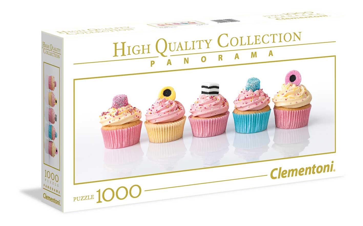 Puzzle Clementoni Cupcakes Panorámico de 1000 Piezas