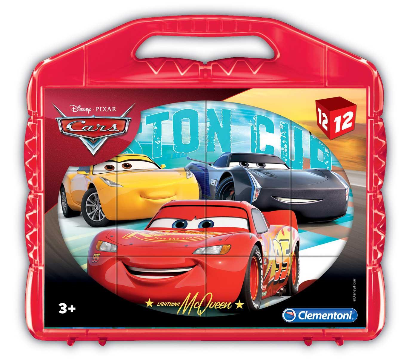 Puzzle Clementoni de Cubos Cars 3 de 12 Piezas