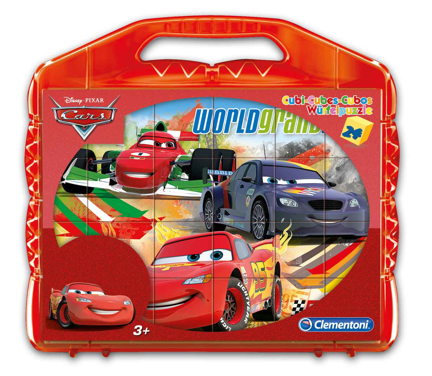 Puzzle Clementoni de Cubos Cars de 24 Piezas