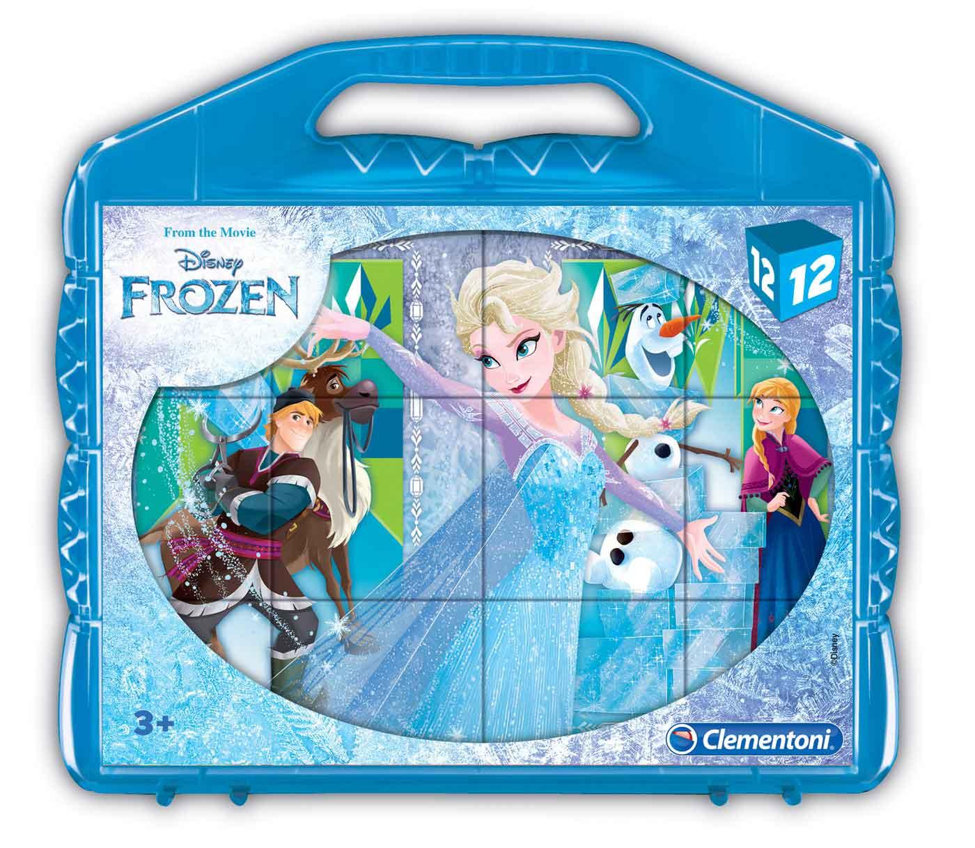 Puzzle Clementoni de Cubos Frozen de 12 Piezas
