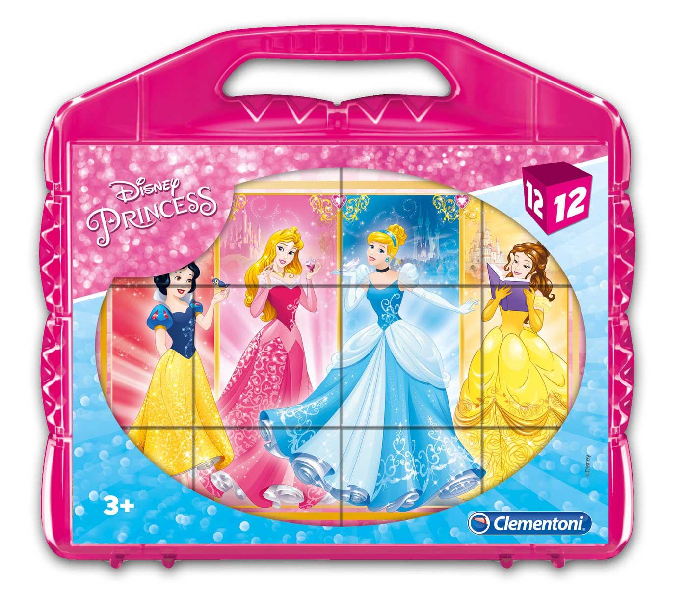 Puzzle Clementoni de Cubos Princesas de 12 Piezas