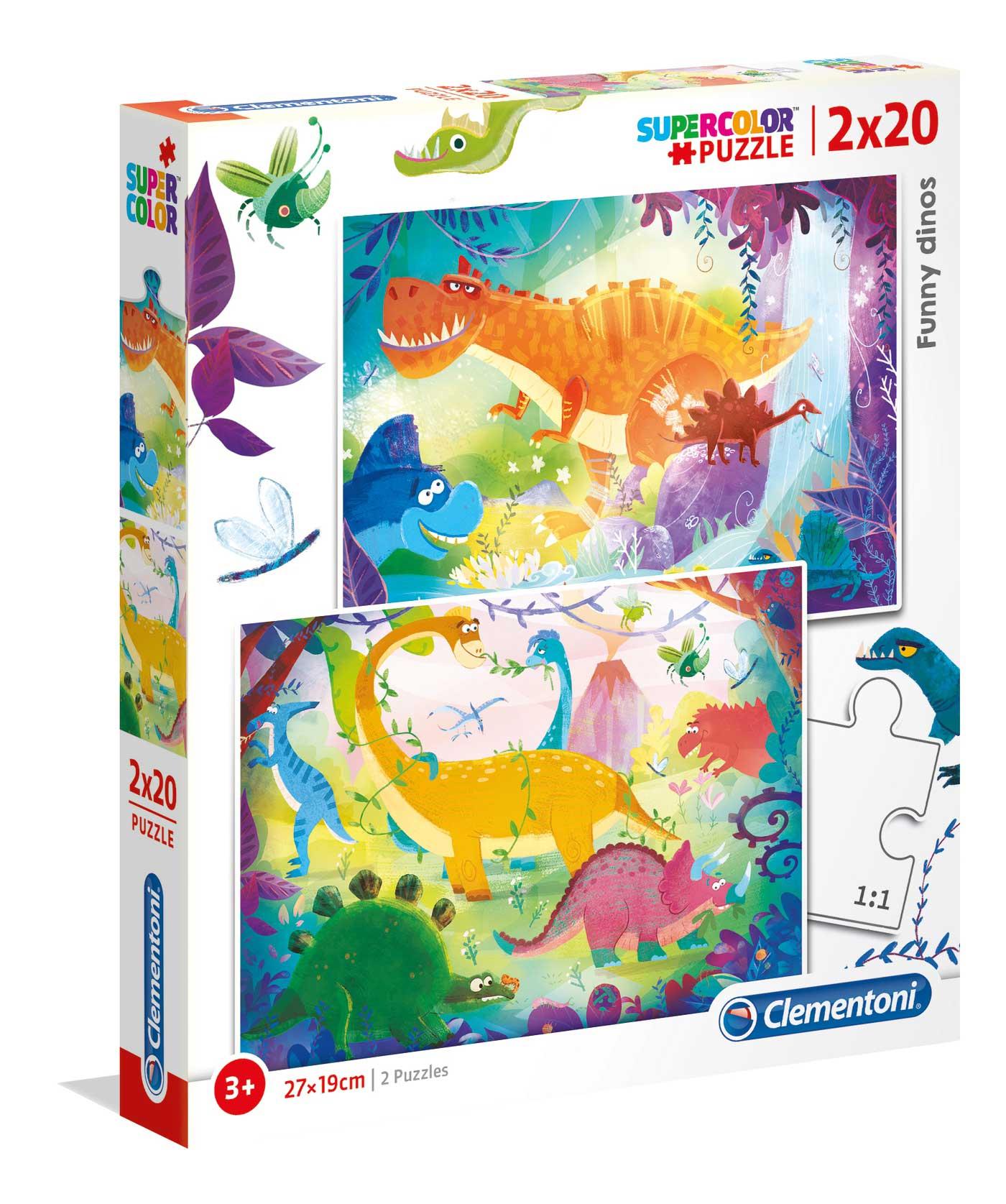 Puzzle Clementoni Dinosaurios de 2 x 20 Piezas