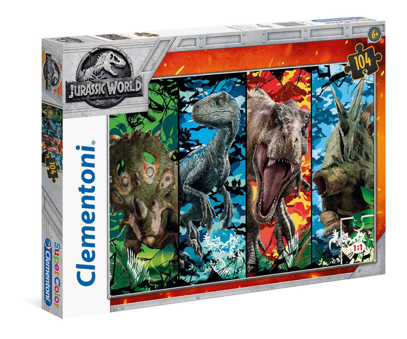 Puzzle Clementoni Dinosaurios Jurassic World de 104 Piezas