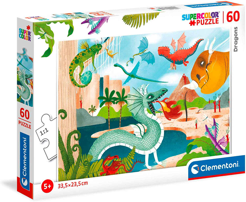 Puzzle Clementoni Dragones de 60 Piezas