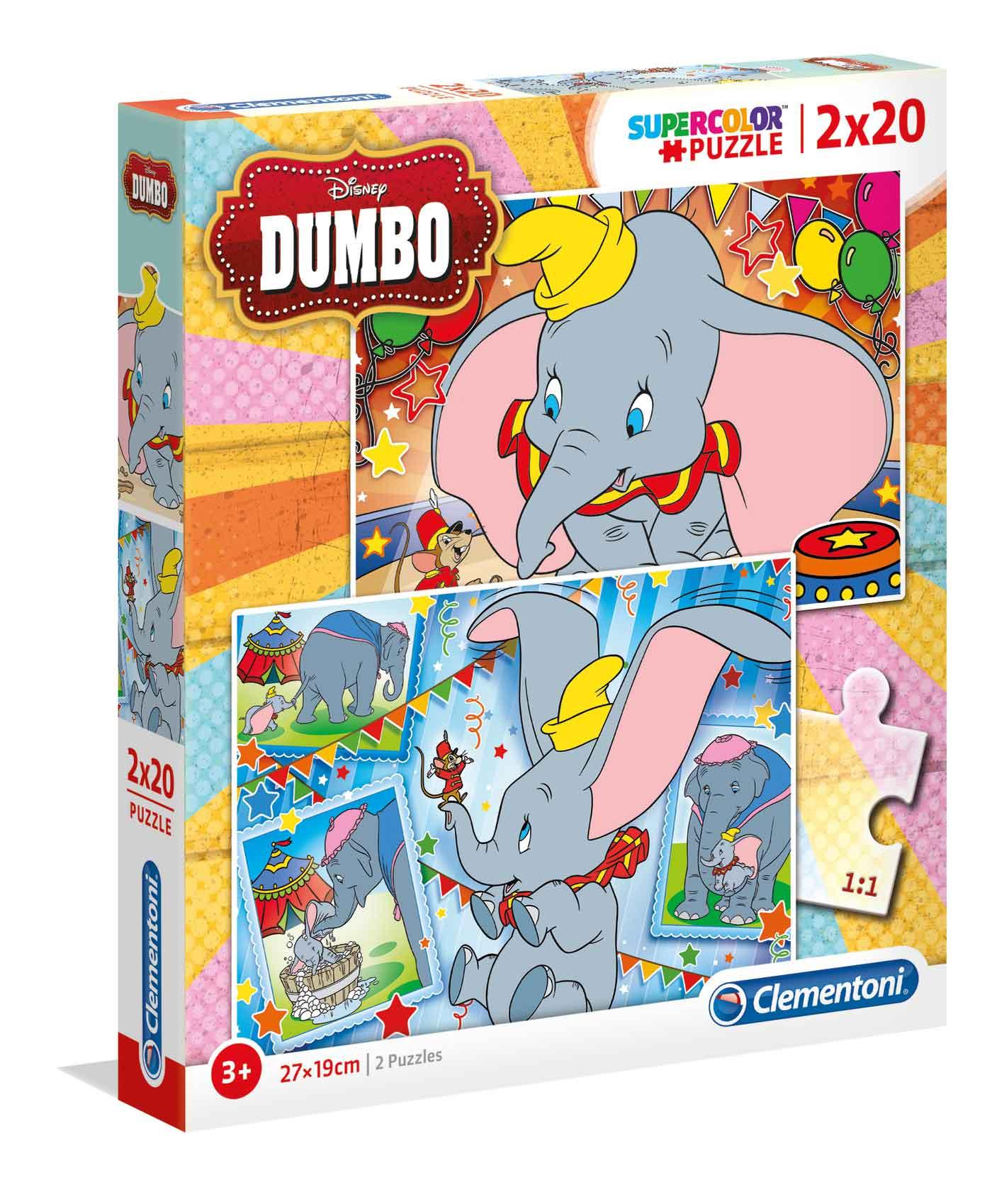 Puzzle Clementoni Dumbo 2x20 Piezas