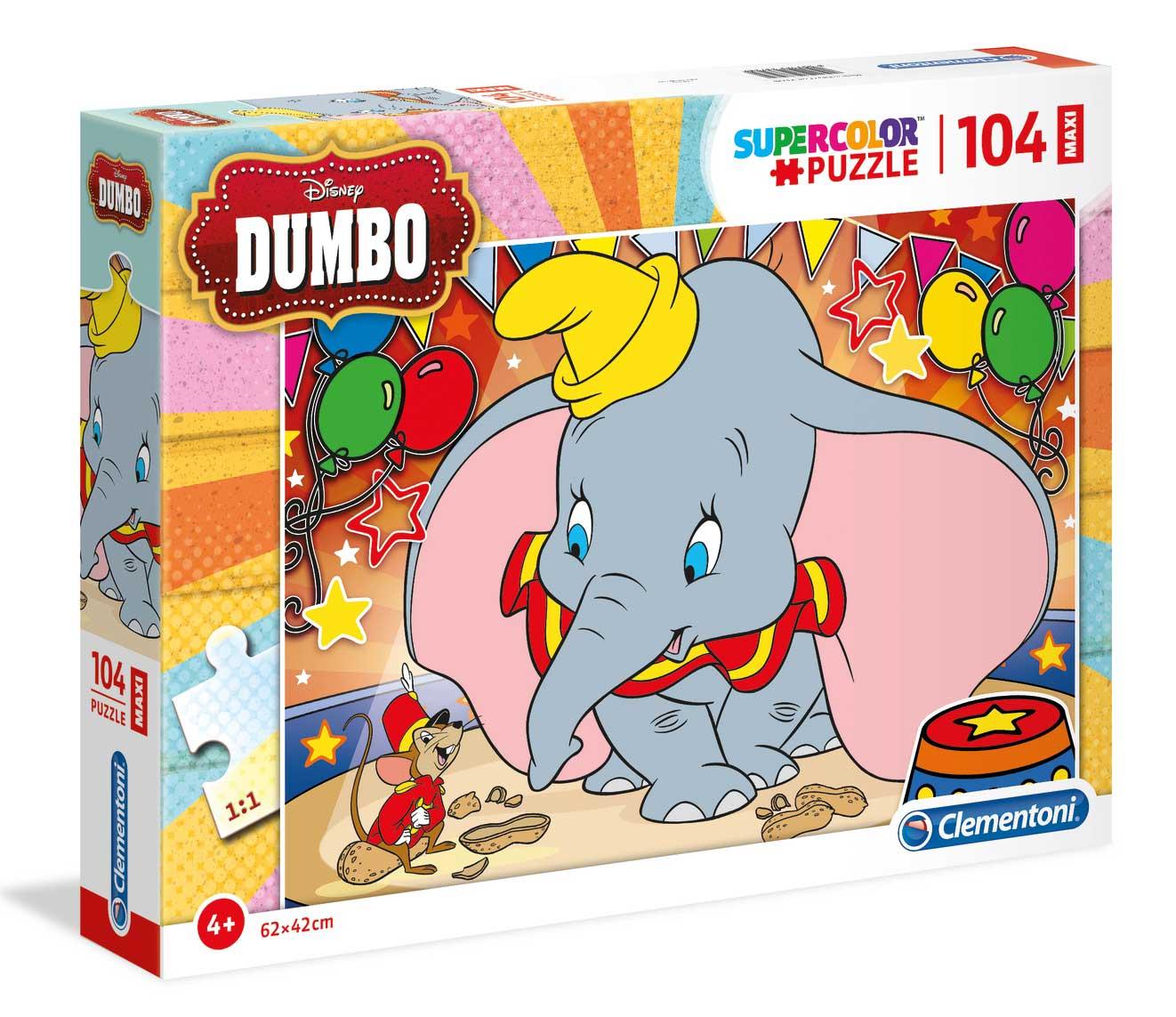 Puzzle Clementoni Dumbo Maxi 104 Piezas