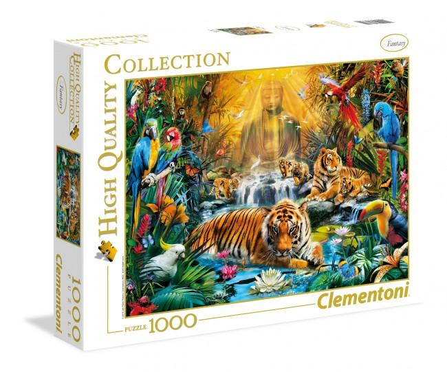 Puzzle Clementoni El Lugar Misterioso de los Tigres de 1000 Piez