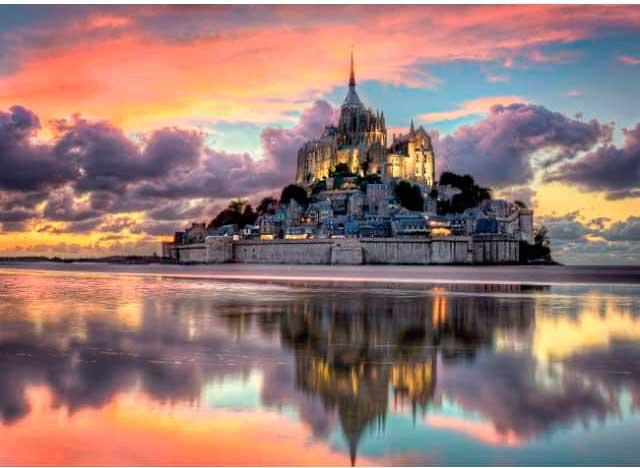 Puzzle Clementoni El Magnífico Mont Saint Michel de 1000 Piezas