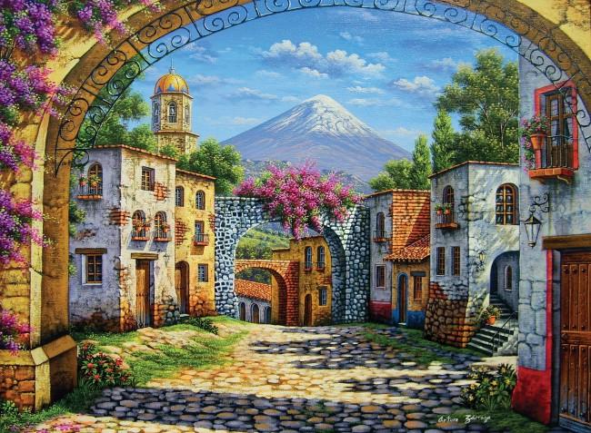 Puzzle Clementoni El Volcán de 500 Piezas