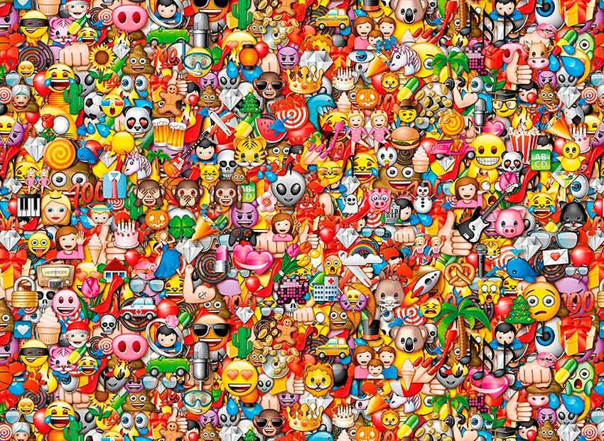 Puzzle Clementoni Imposible Emojis de 1000 Piezas