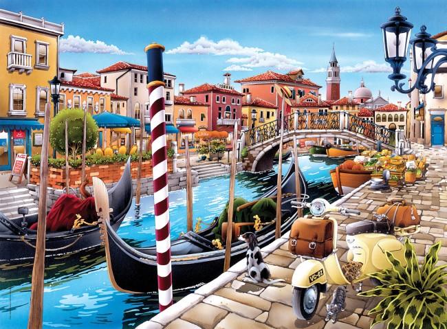 Puzzles Clementoni En el Canal de Venecia de 500 Piezas