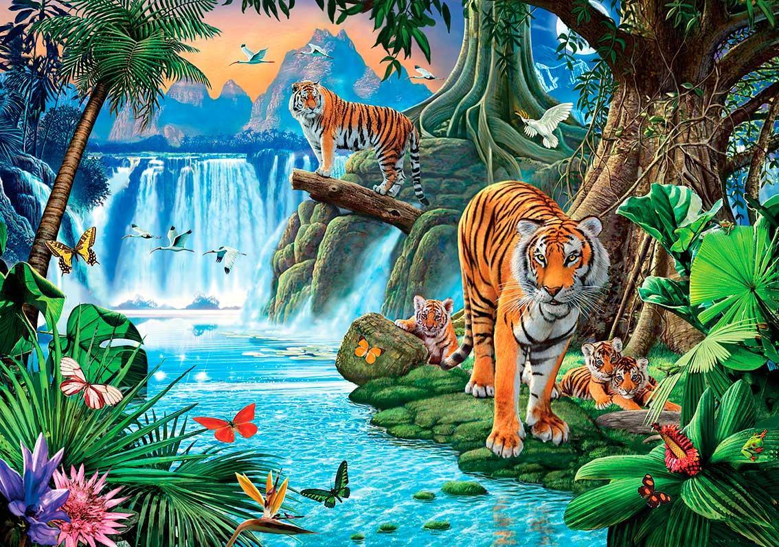 Puzzle Clementoni Familia de Tigres de 1500 Piezas