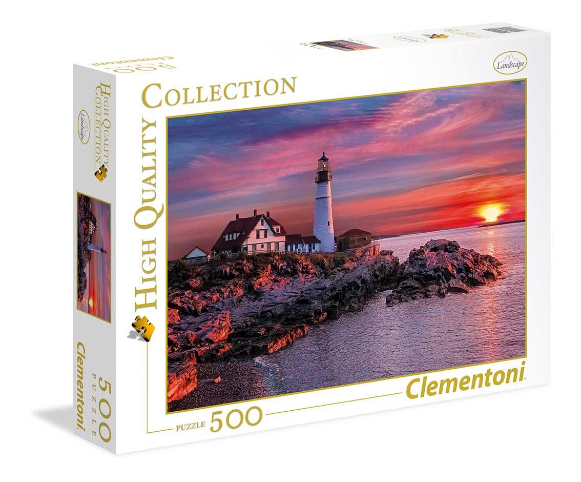 Puzzle Clementoni Faro Portland de 500 Piezas
