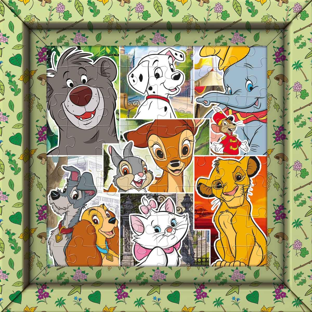 Puzzle Clementoni Frame Me Up Animales Disney de 60 Pzs