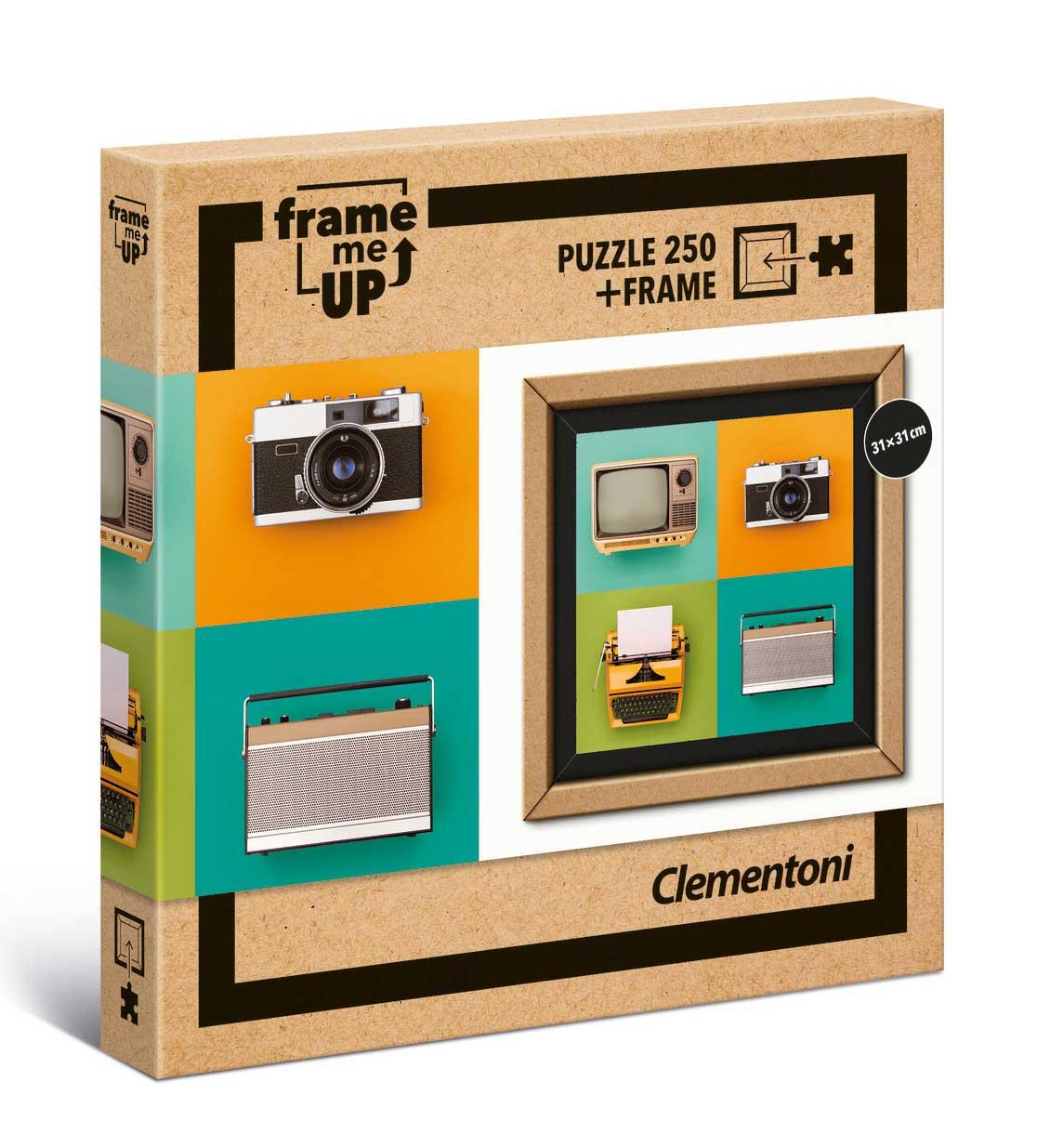 Puzzle Clementoni Frame Me Up Electrónica Vintage de 250 Pzs