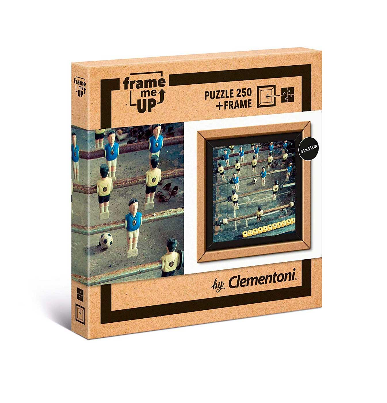 Puzzle Clementoni Frame Me Up Futbolín Vintage de 250 Pzs
