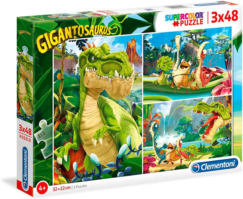 Puzzle Clementoni Gigantosaurus 3 x 48 Piezas