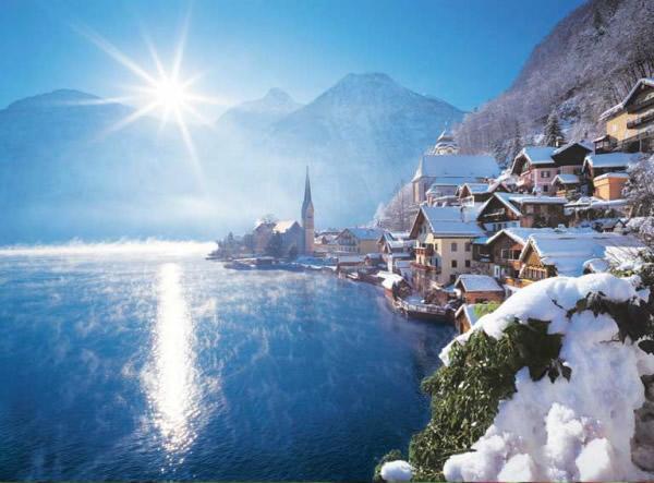 Puzzle Clementoni Hallstatt Lake, Austria de 500 Piezas
