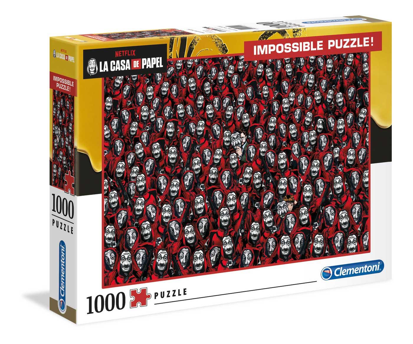 Puzzle Clementoni Imposible La Casa De Papel de 1000 Piezas