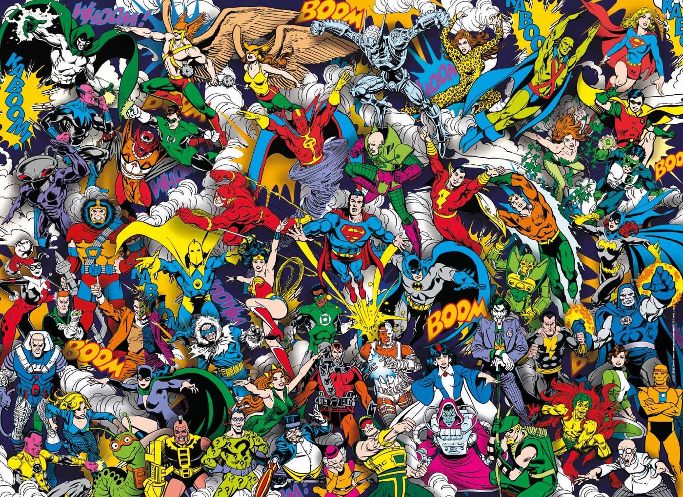 Puzzle Clementoni Imposible Liga de la Justicia DC de 1000 Pieza