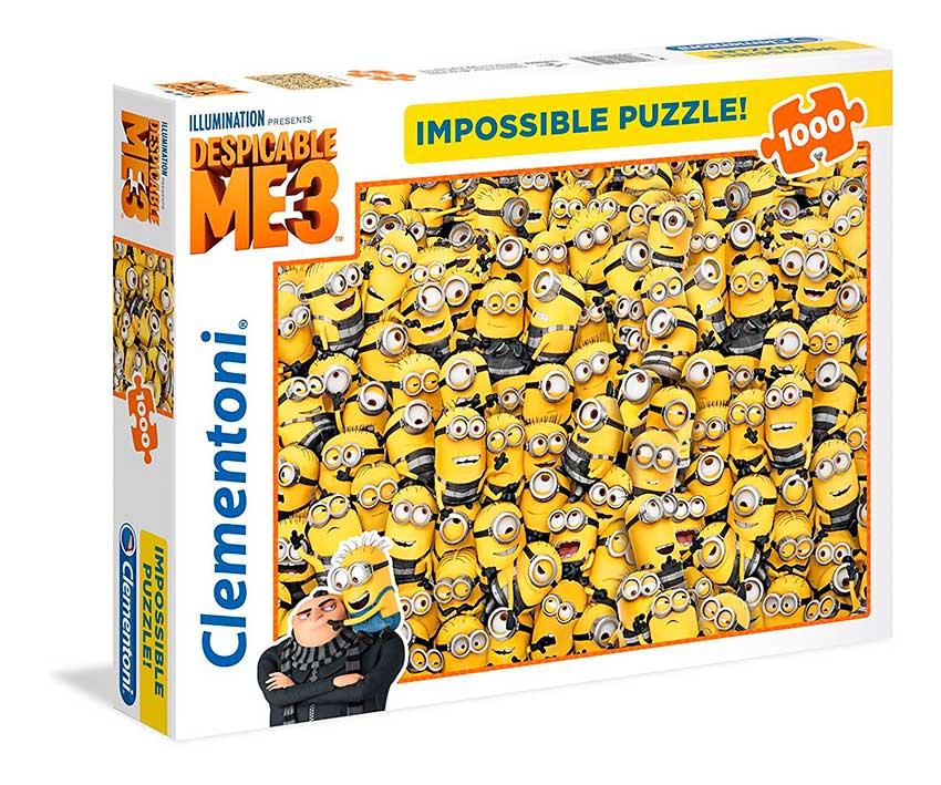 Puzzle Clementoni Imposible Muñecos Minions de 1000 Piezas