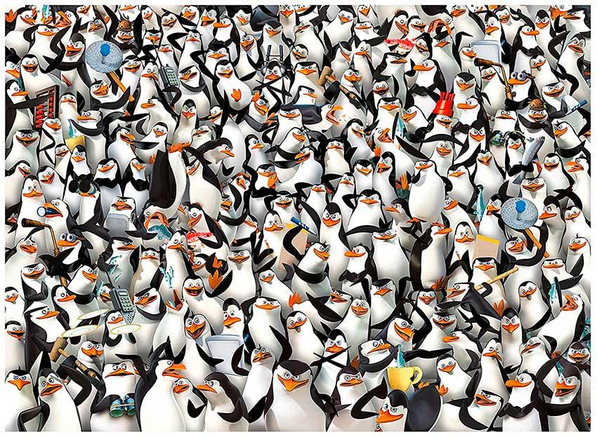 Puzzle Clementoni Imposible Pinguinos de Madagascar de 1000 Piez