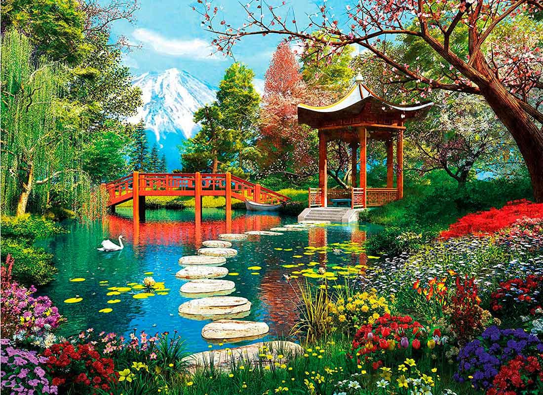 Puzzle Clementoni Jardines de Fuji de 1000 Piezas
