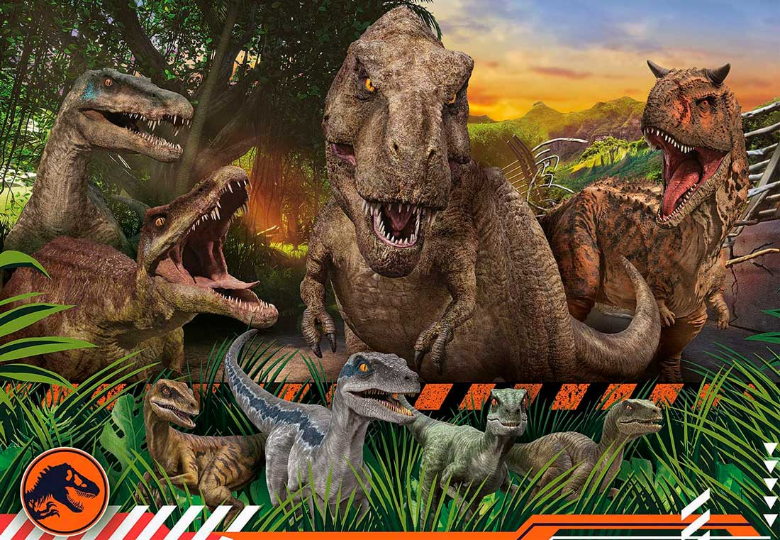 Puzzle Clementoni Jurassic World Campamento Cretácico de 104 Pie