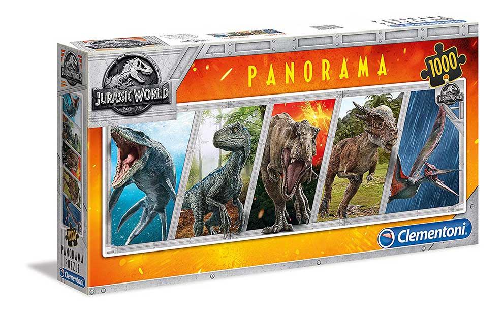 Puzzle Clementoni Jurassic World Panorámico de 1000 Piezas