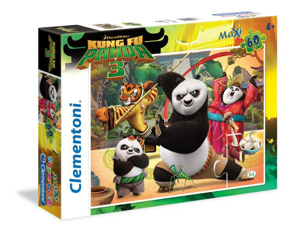 Puzzle Clementoni Kung Fu Panda 3 Maxi 60 Piezas