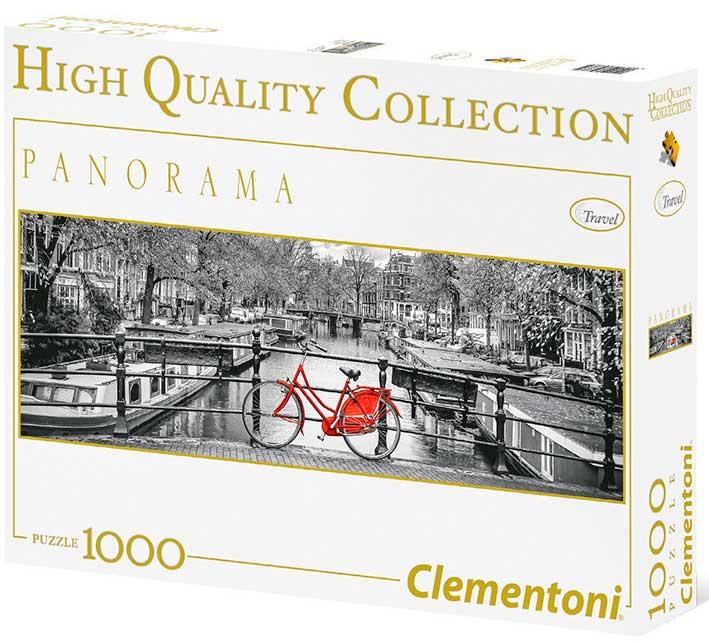 Puzzle Clementoni Amsterdam, la bicicleta de 1000 Piezas