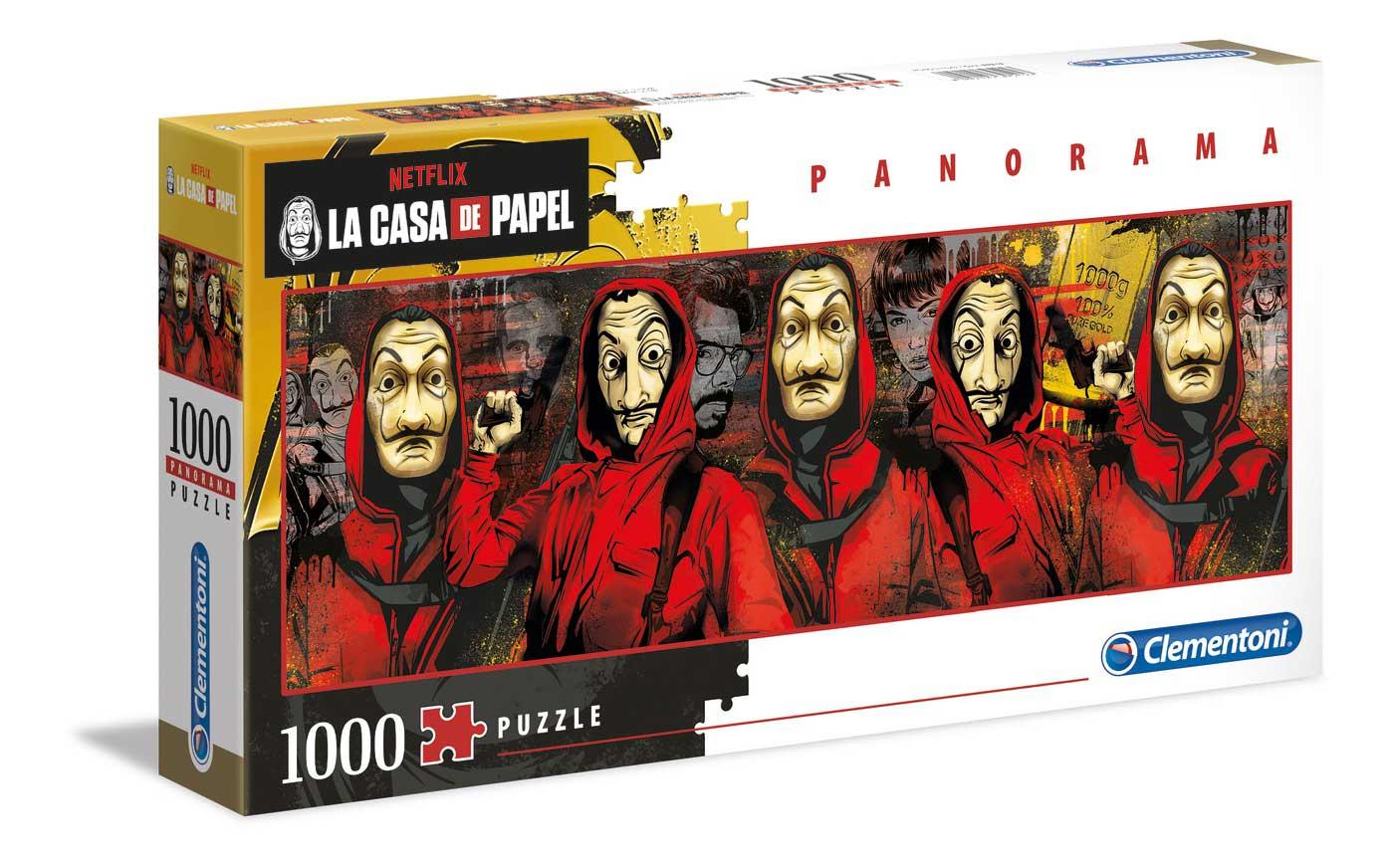 Puzzle Clementoni La Casa De Papel Panorama de 1000 Pzs