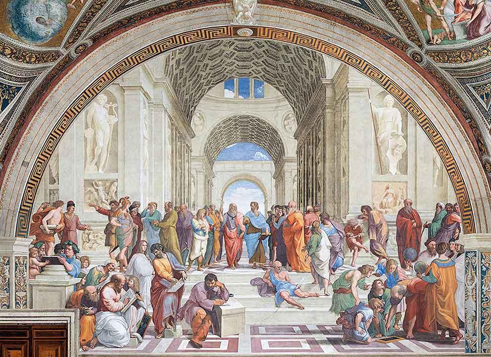 Puzzle Clementoni La Escuela de Atenas de 1000 Piezas