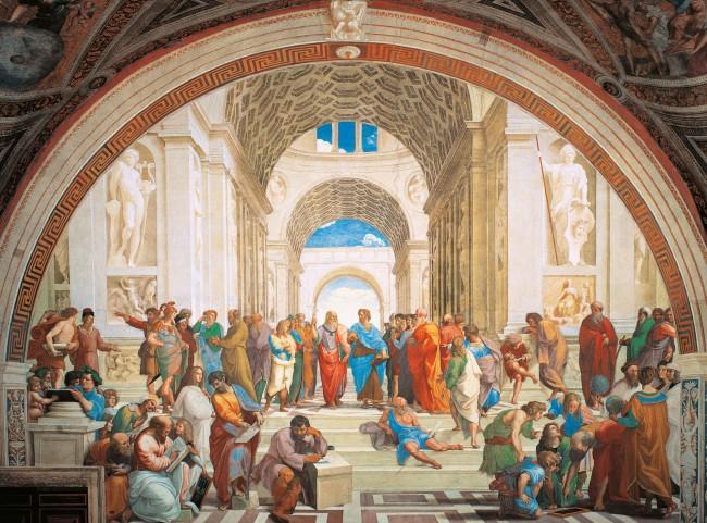 Puzzles Clementoni La Escuela de Atenas de 500 Piezas