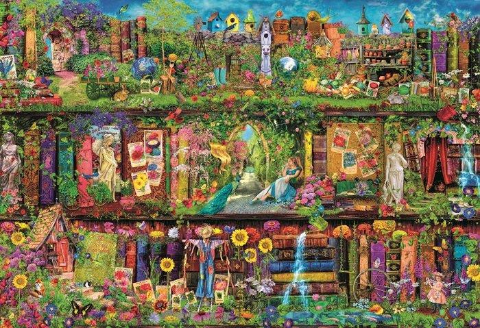 Puzzle Clementoni La Estantería de Jardín de 2000 Piezas