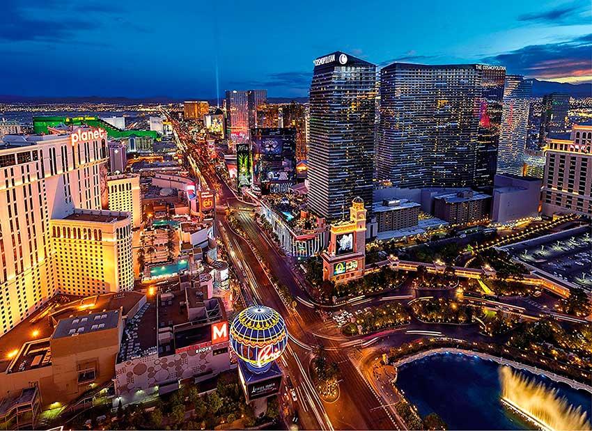 Puzzle Clementoni Realidad Virtual Las Vegas de 1000 Piezas