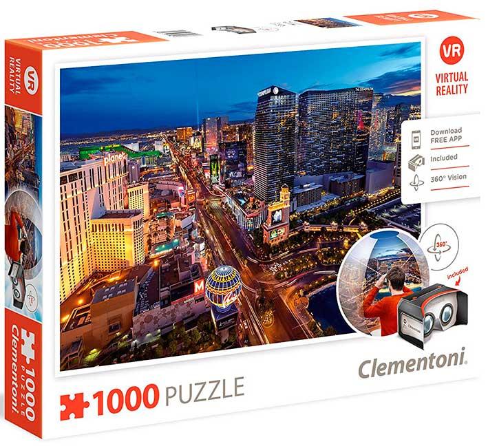 Puzzle Clementoni VR Las Vegas de 1000 Piezas