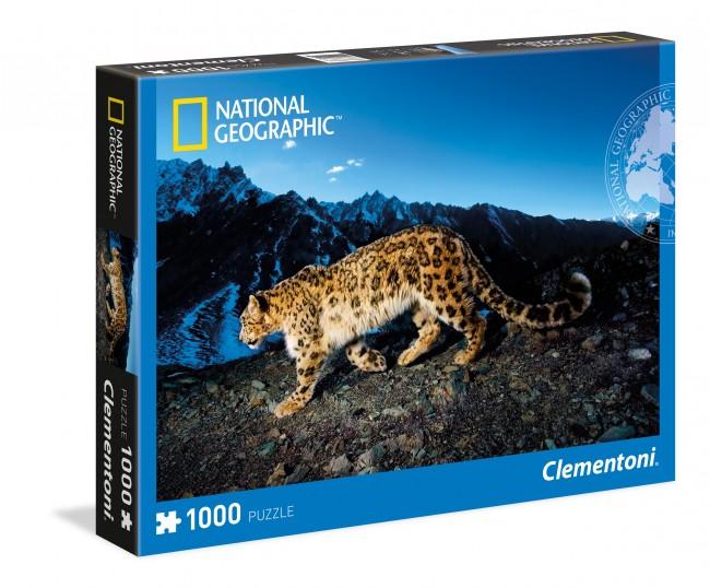 Puzzle Clementoni Leopardo en la Nieve de 1000 Piezas