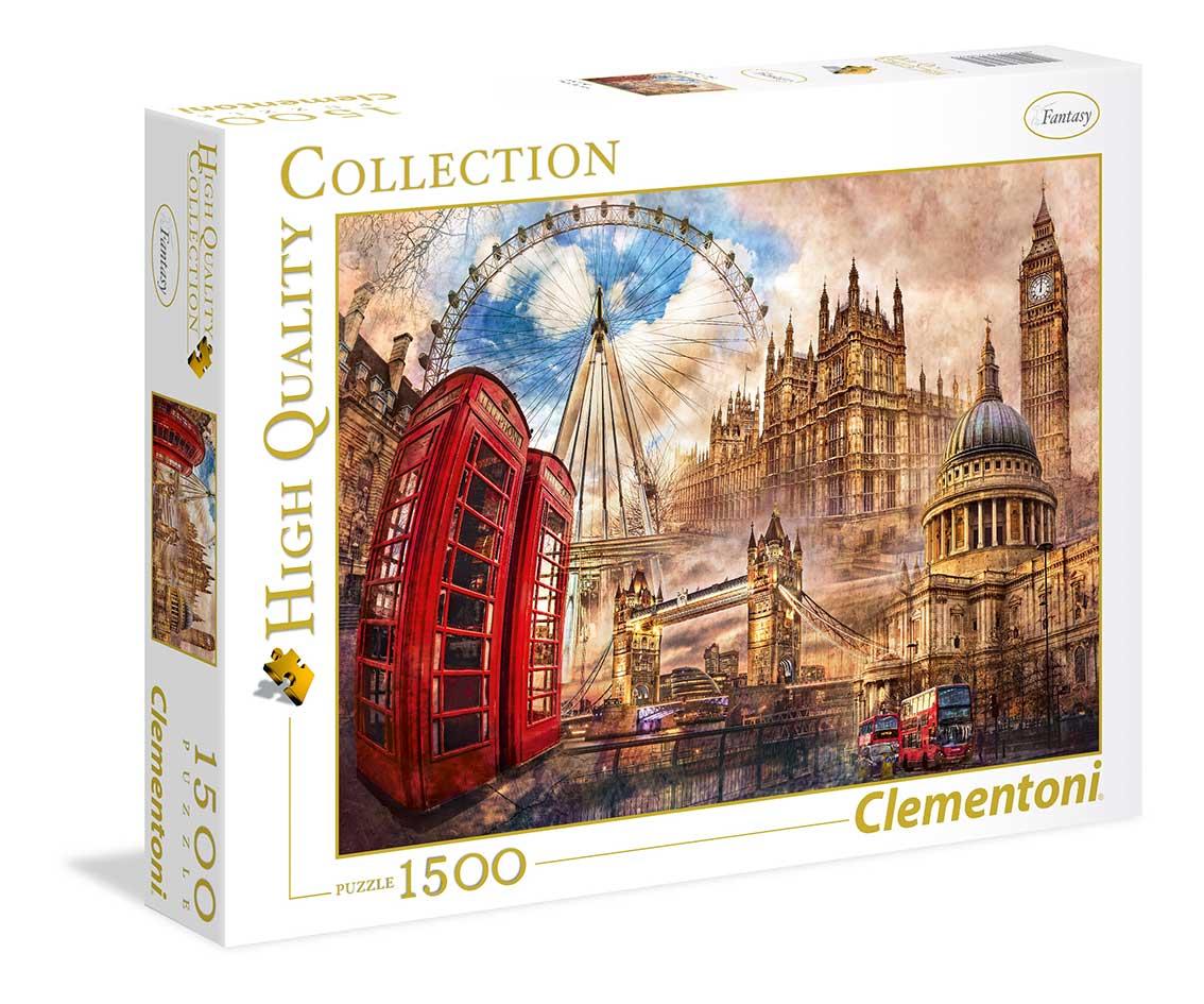Puzzle Clementoni Londres Vintage de 1500 Piezas