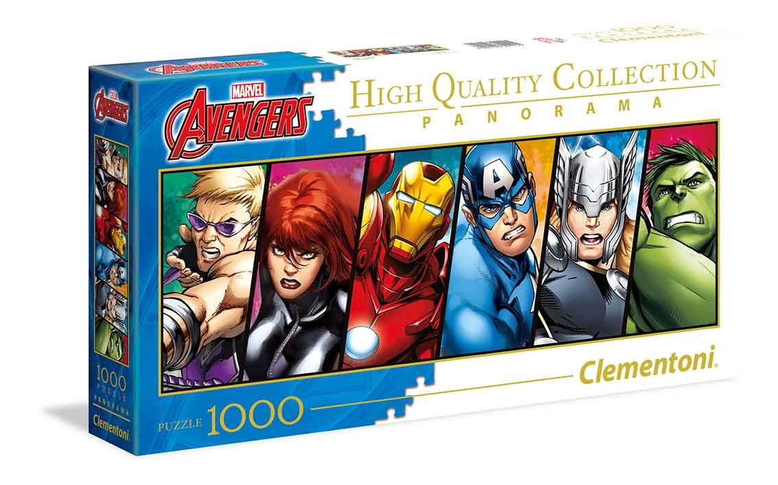 Puzzle Clementoni Los Vengadores Panorámico de 1000 Piezas