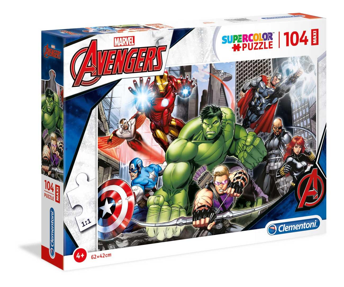 Puzzle Clementoni Hulk y Los Vengadores Maxi 104 Piezas