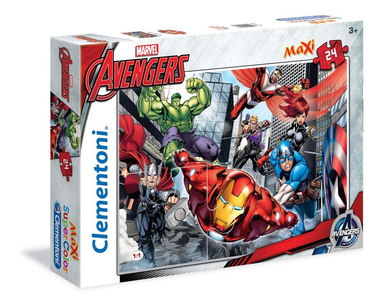 Puzzle Clementoni Los Vengadores Maxi 24 Piezas