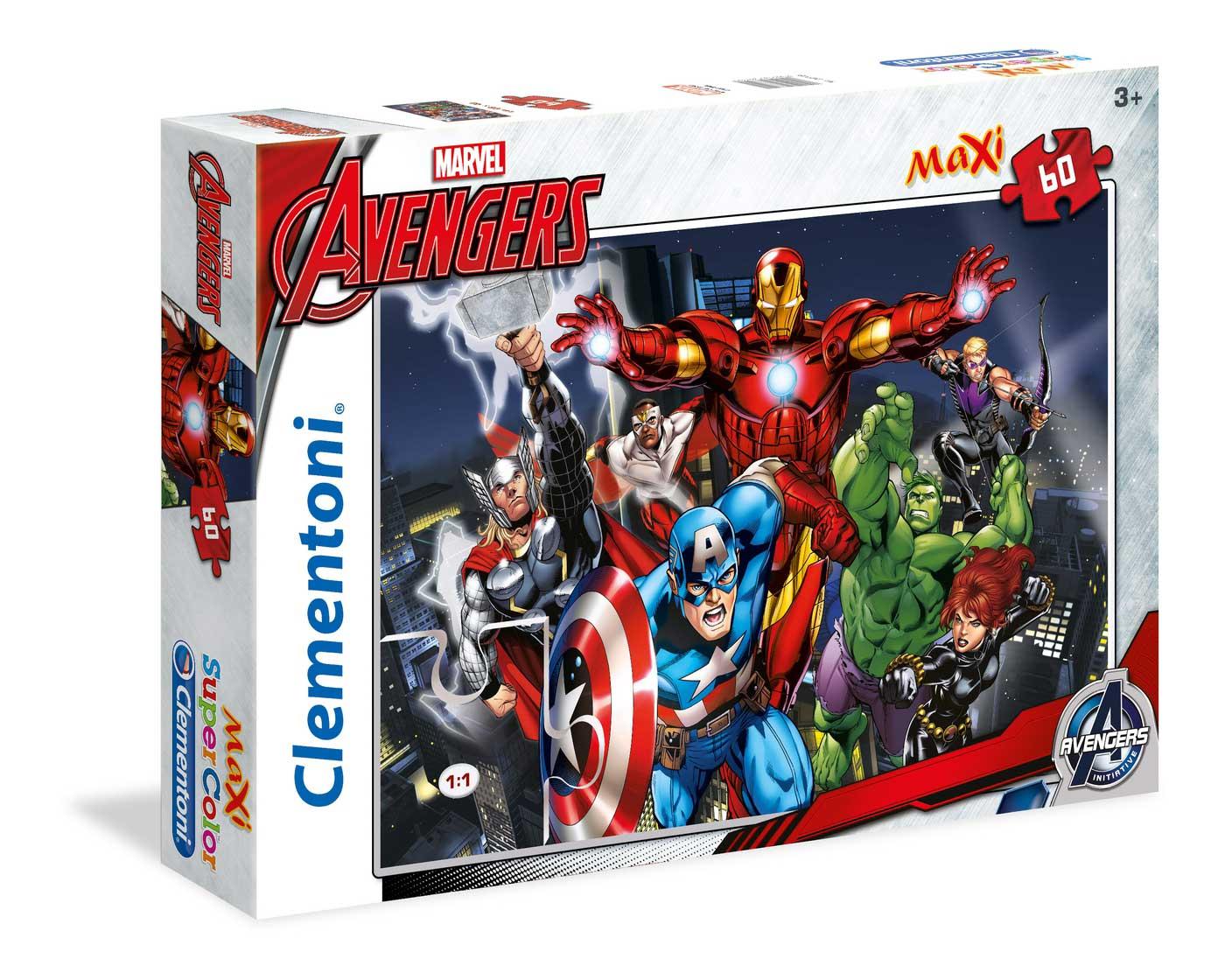 Puzzle Clementoni Los Vengadores Maxi 60 Piezas