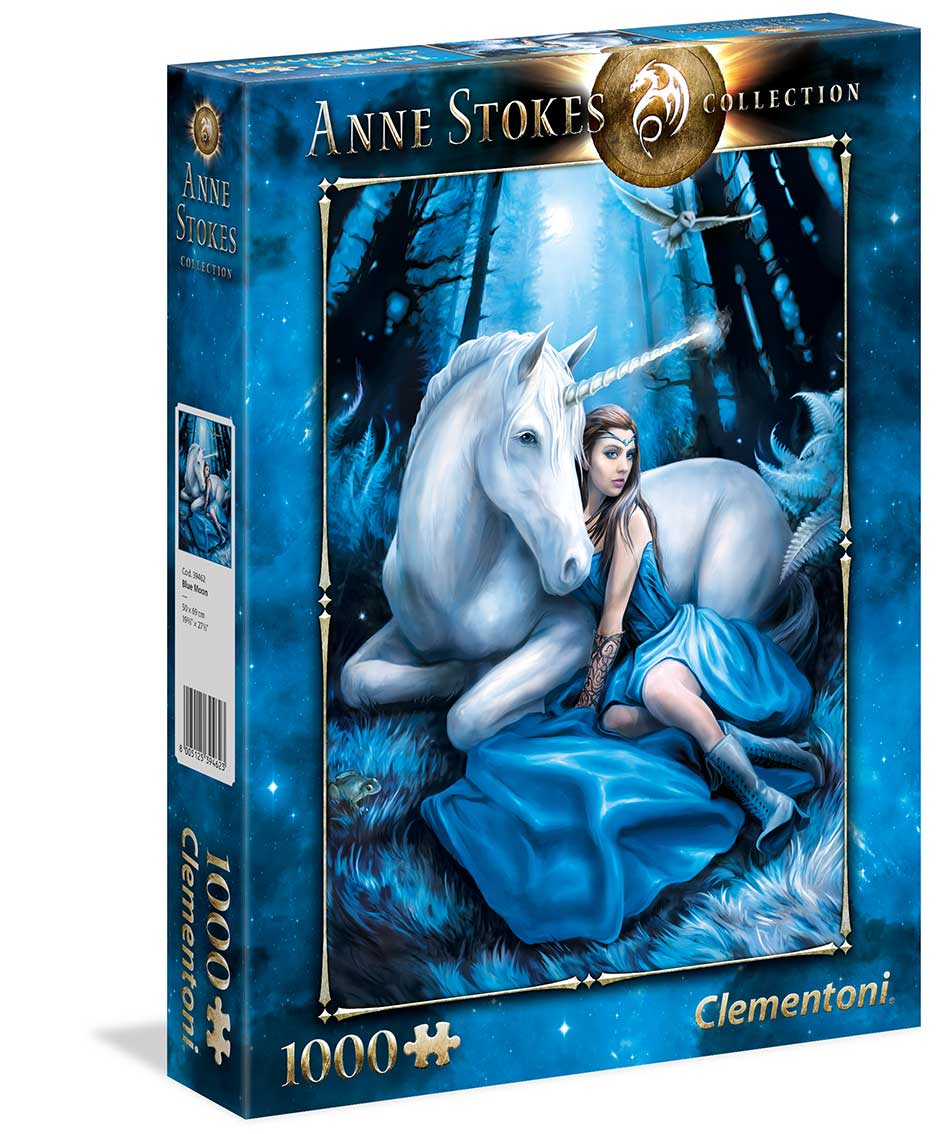 Puzzle Clementoni Luna Azul de 1000 Piezas