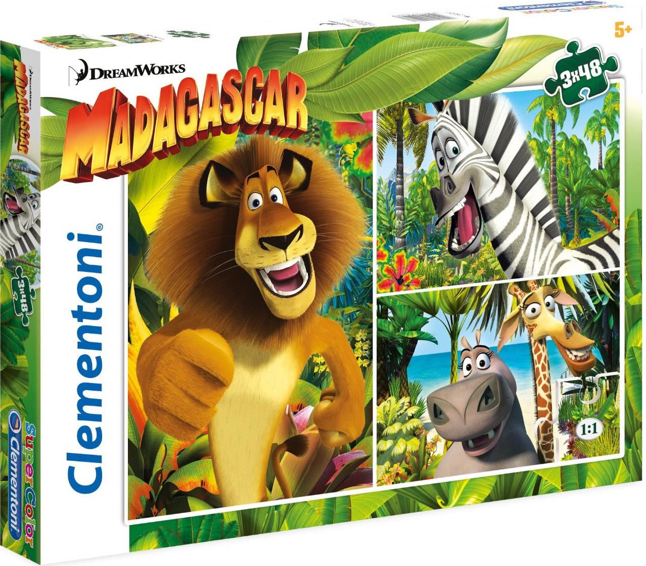 Puzzle Clementoni Madagascar 3 x 48 Piezas